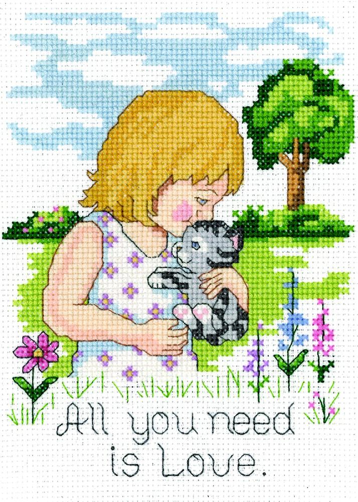Love is all you Need -  Cross Stitch Kit