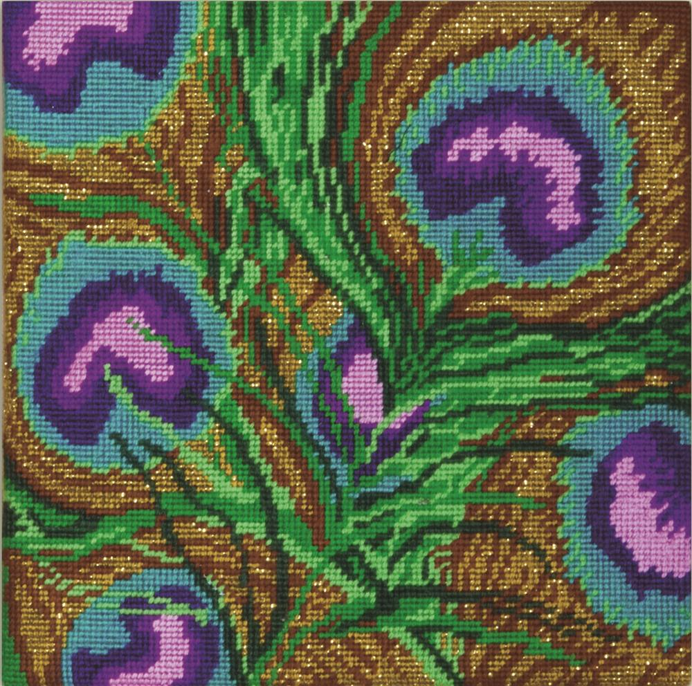 Design Works Crafts Peacock Feathers Tapestry Kit