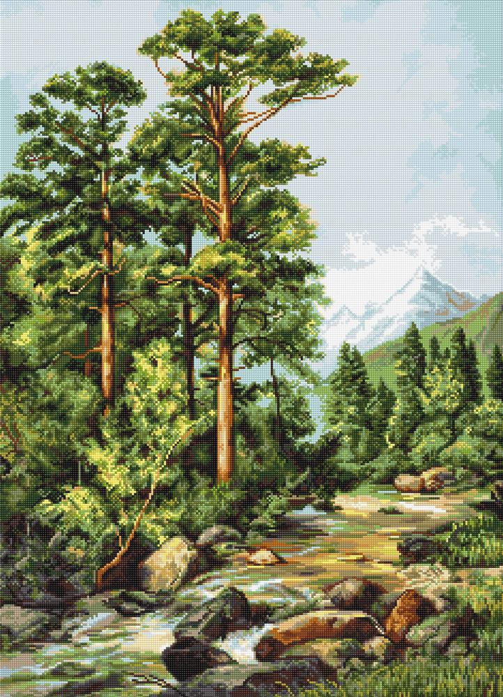 Luca-S Mountain River Cross Stitch Kit