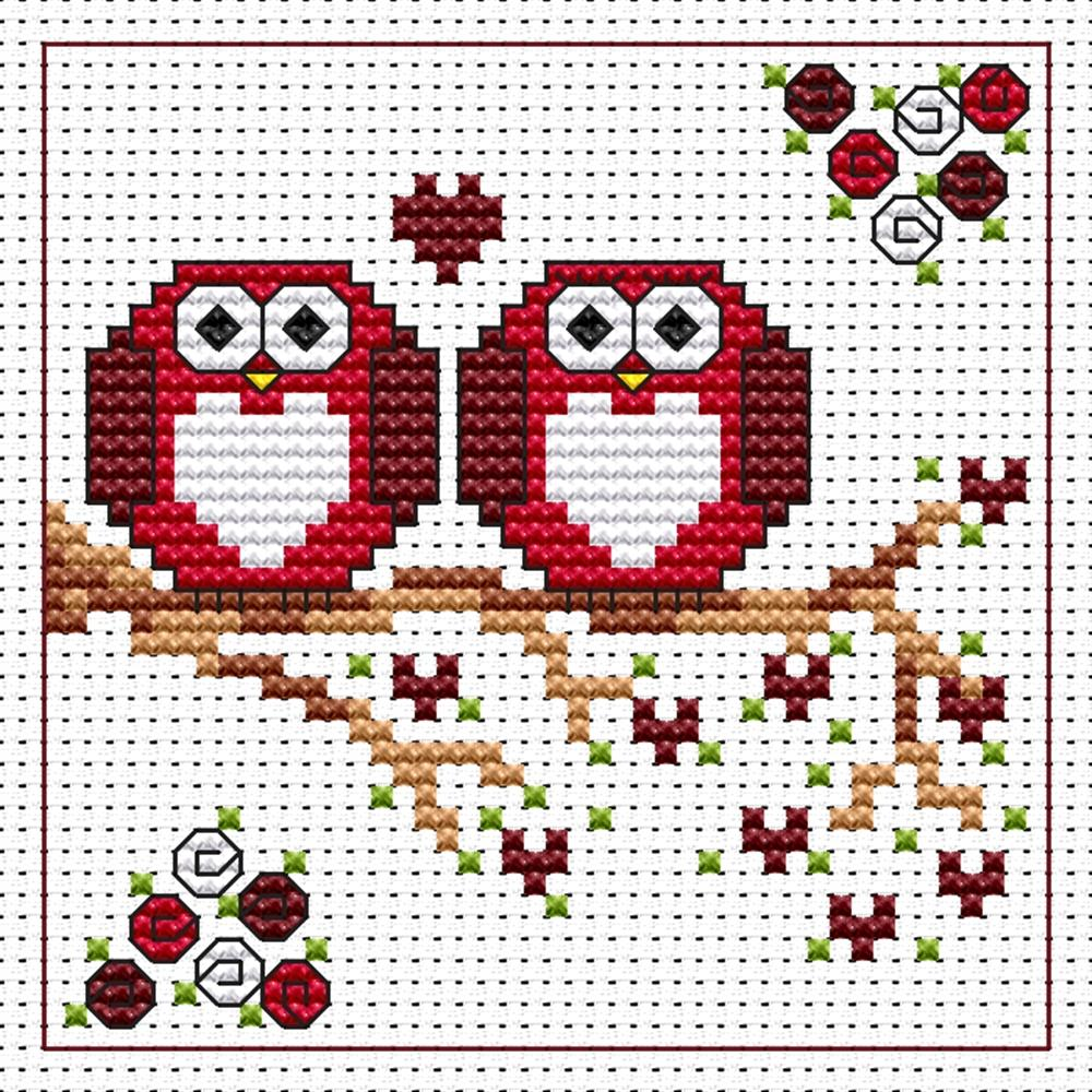 Love Twitts Card -  Cross Stitch Kit