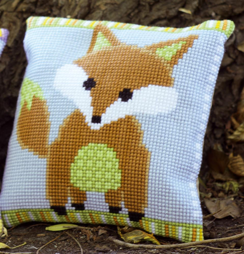 Vervaco Mr Fox Cushion Cross Stitch Kit