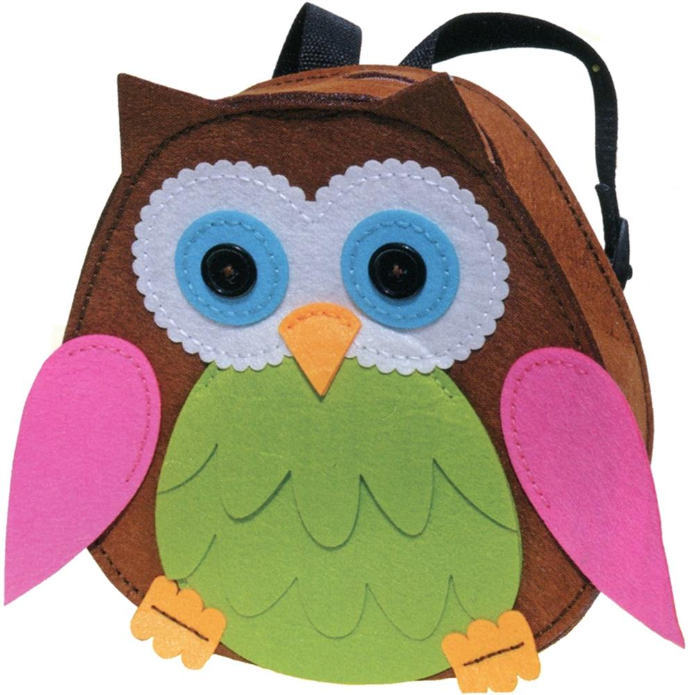 Green/Pink Owl Backpack