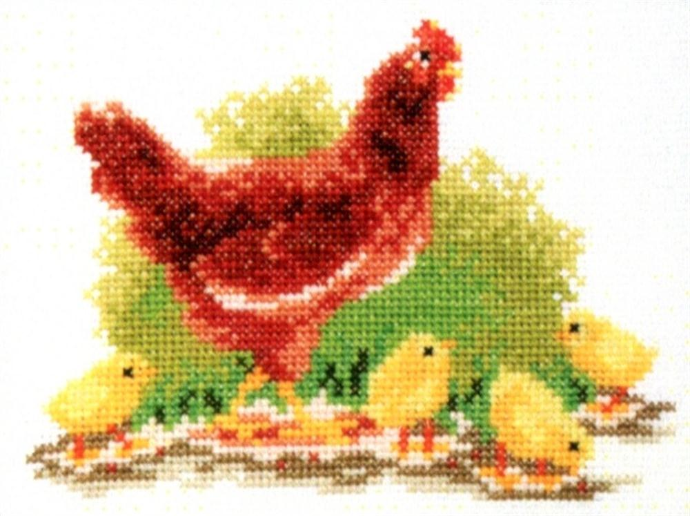 Pako Chickens Cross Stitch Kit