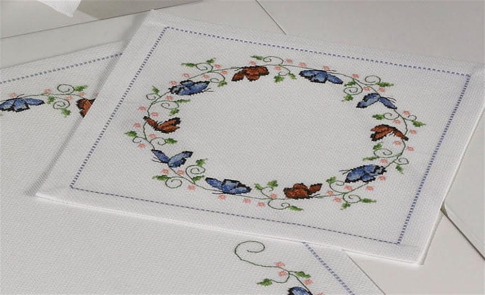 Permin Butterflies Tablemat Cross Stitch Kit