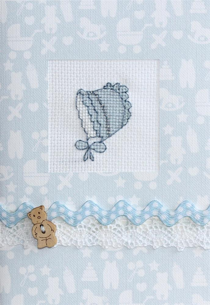Blue Bonnet Card -  Cross Stitch Kit