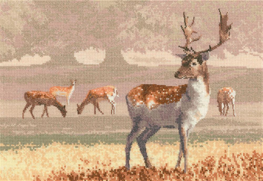 Deer Park - Aida -  Cross Stitch Kit