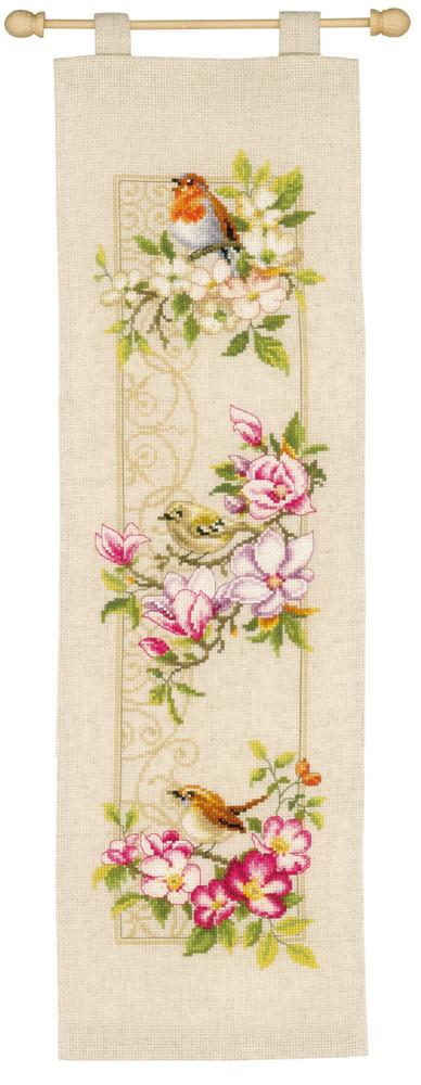 Vervaco Birds and Blossoms Cross Stitch Kit