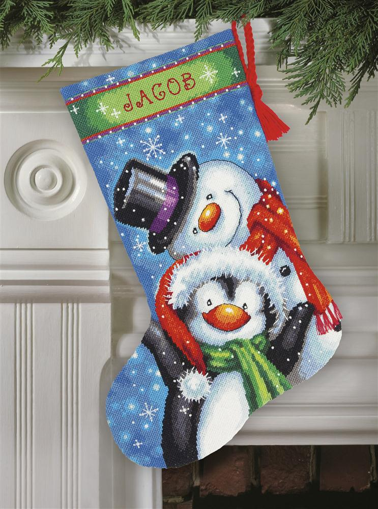 Dimensions Polar Pals Stocking Christmas Tapestry Kit