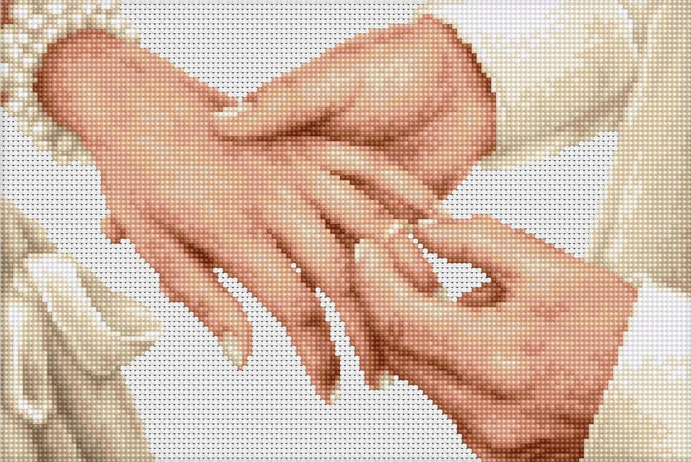 Forever Wedding Ring -  Cross Stitch Kit