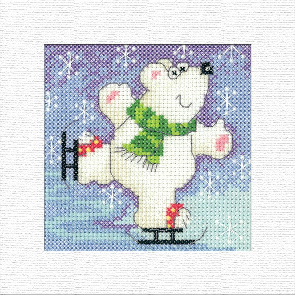 Heritage Polar Bear Christmas Card Cross Stitch Kit