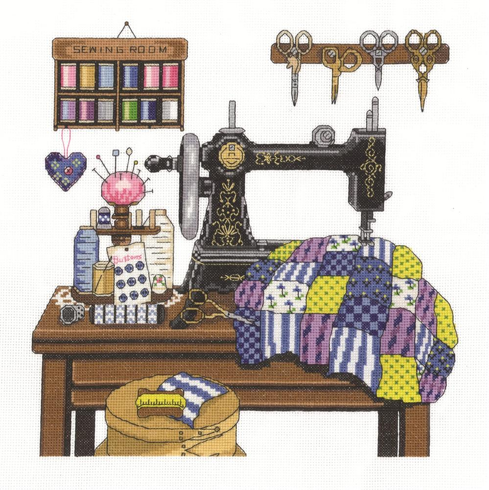 Janlynn Antique Sewing Room Cross Stitch Kit