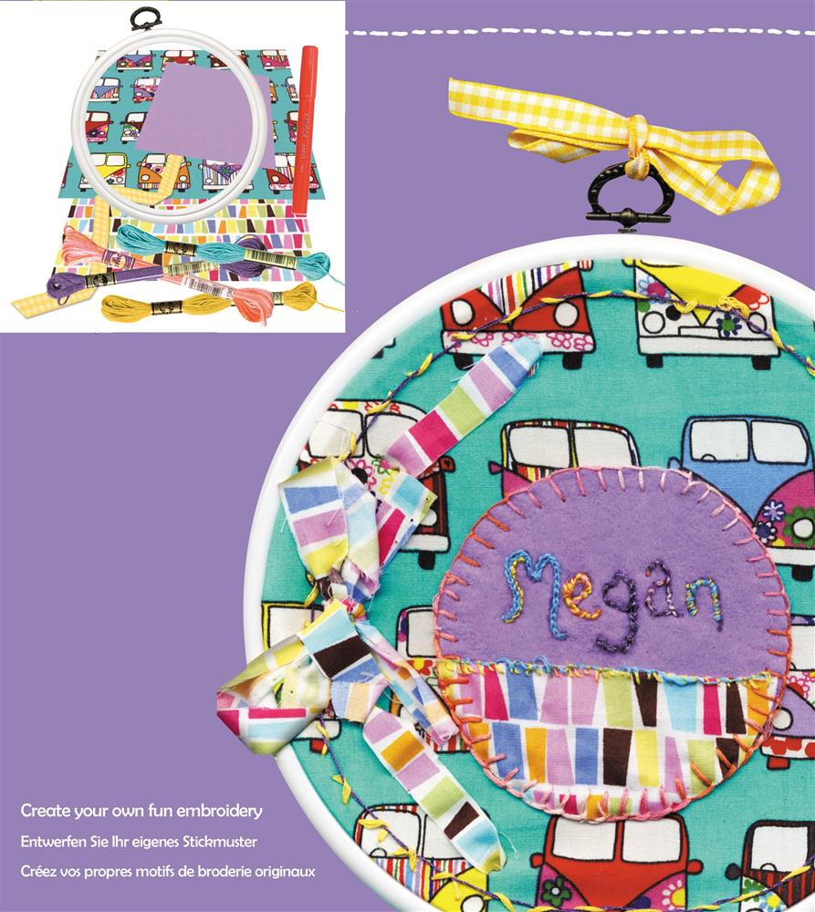 DMC Hoop It Junior - Camper Van Embroidery Kit