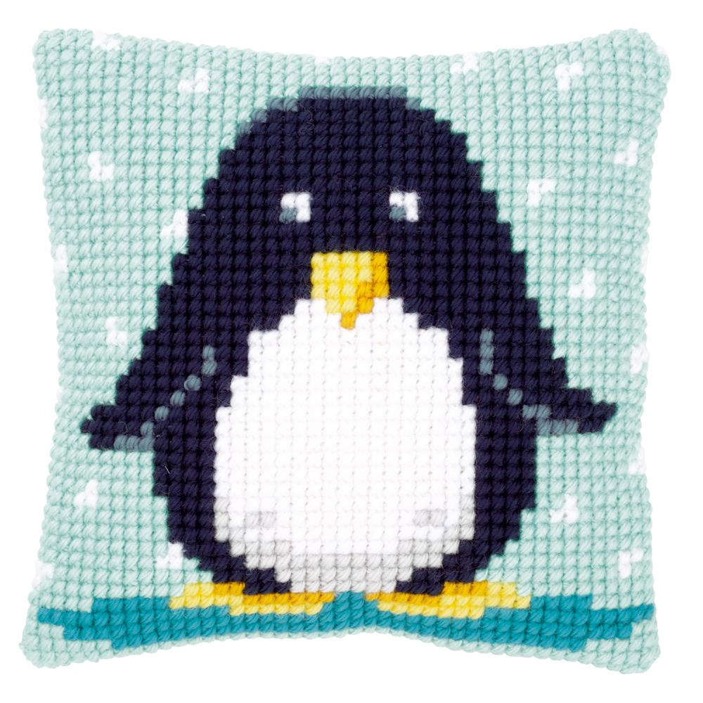 Vervaco Baby Penguin Cushion Cross Stitch Kit