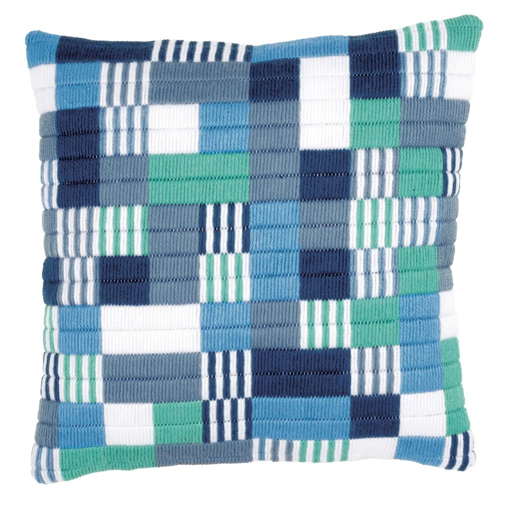 Vervaco Blocks and Stripes Cushion Long Stitch Kit