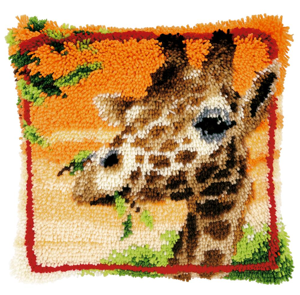 Vervaco Giraffe Cushion Latch Hook Cushion Kit