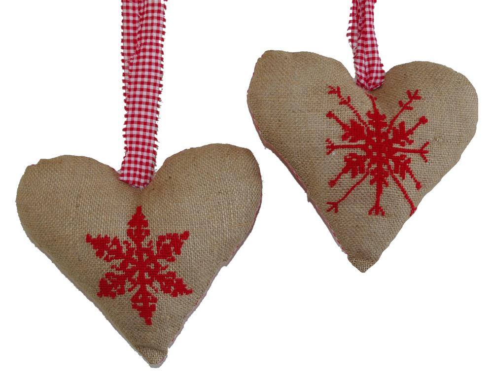Anette Eriksson Christmas Heart Decorations Cross Stitch Kit