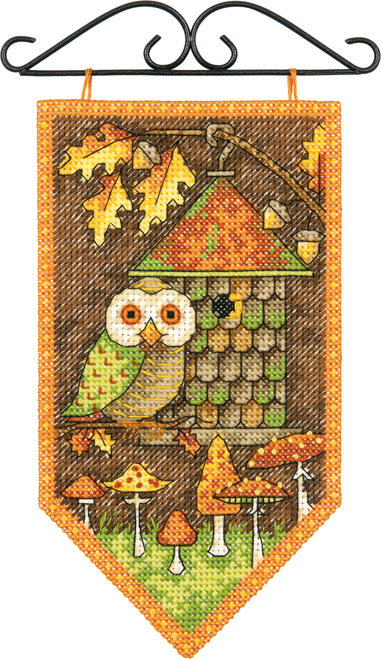 Dimensions Fall Banner Cross Stitch Kit