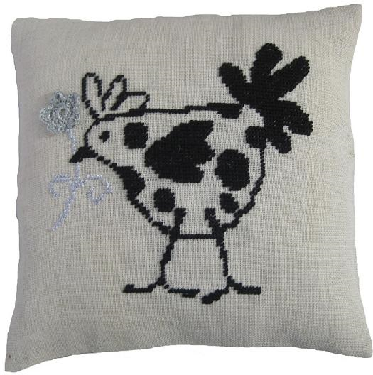 Anette Eriksson French Hen Value Cushion Front Cross Stitch Kit