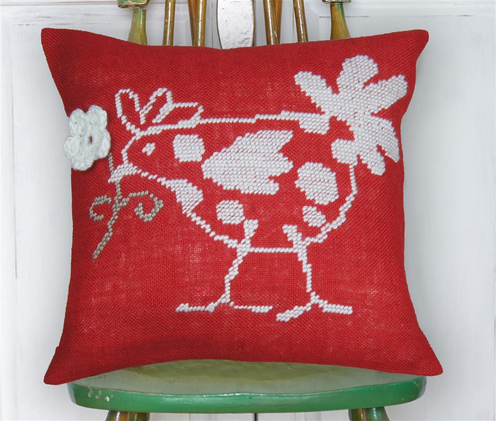 Anette Eriksson Red Hen Value Cushion Front Cross Stitch Kit