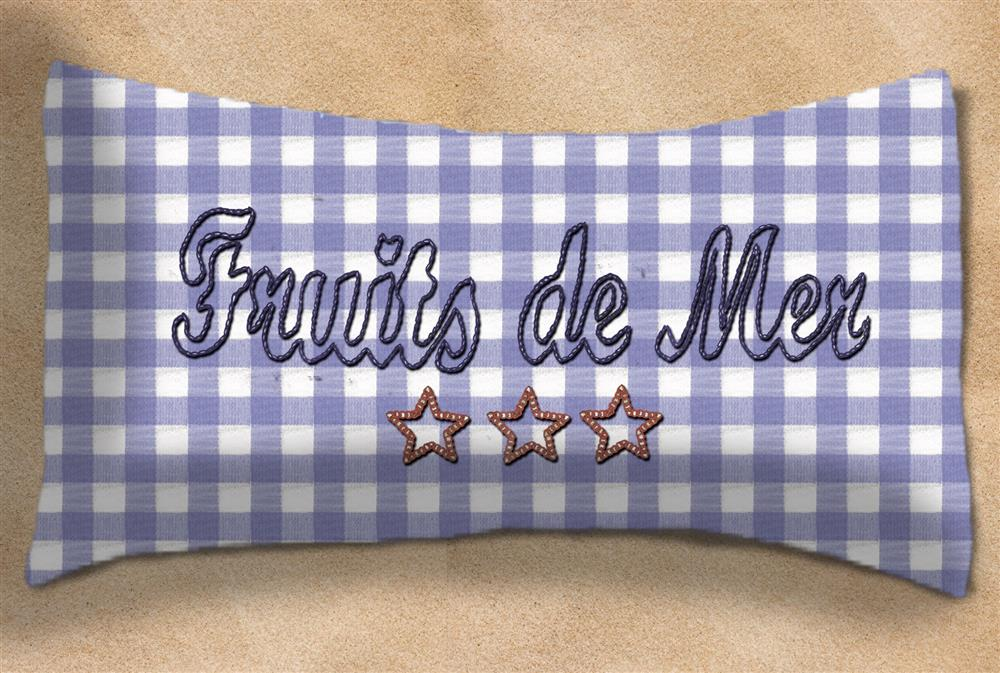 Anette Eriksson Fruits de Mer Value Cushion Front Embroidery Kit