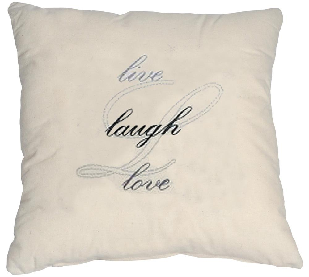Anette Eriksson Live Laugh Love Value Cushion Front Embroidery Kit