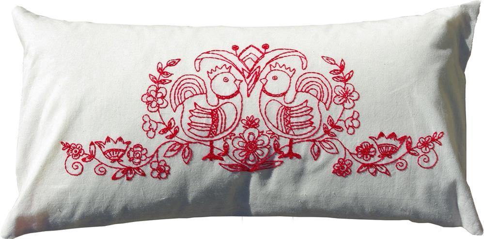 Anette Eriksson Scandinavia Red Premium Cushion Kit Embroidery