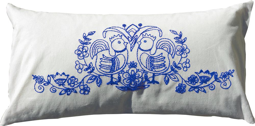 Anette Eriksson Scandinavia Blue Premium Cushion Kit Embroidery