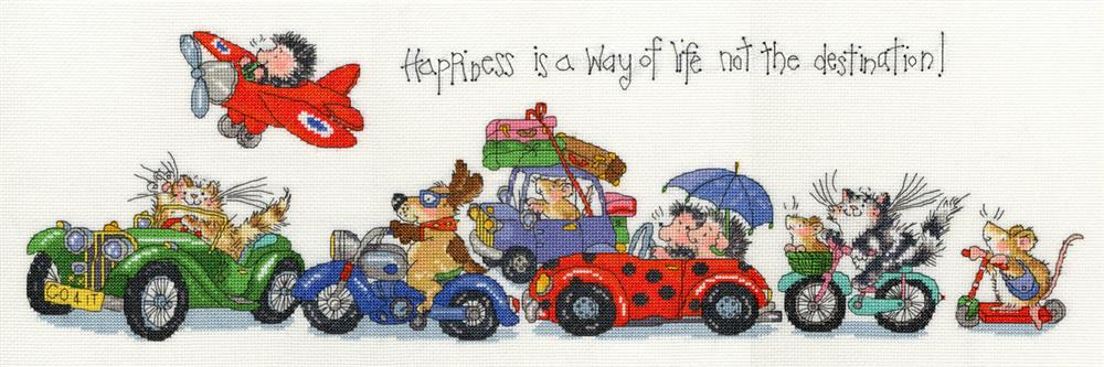 Bothy Threads Happiness Cross Stitch Kit