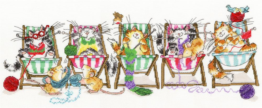 Bothy Threads Kitty Knit Cross Stitch