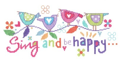 Stitching Shed Sing and be Happy Cross Stitch Kit