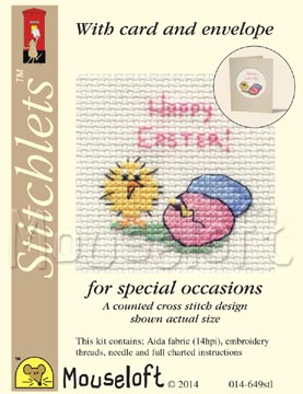 Easter Chick and Eggs -  Cross Stitch Kit