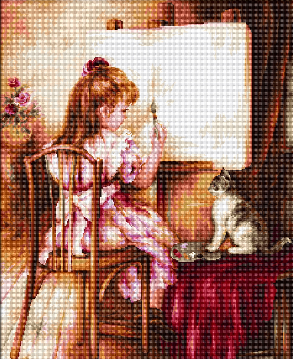 Artist and Model -  Cross Stitch Kit