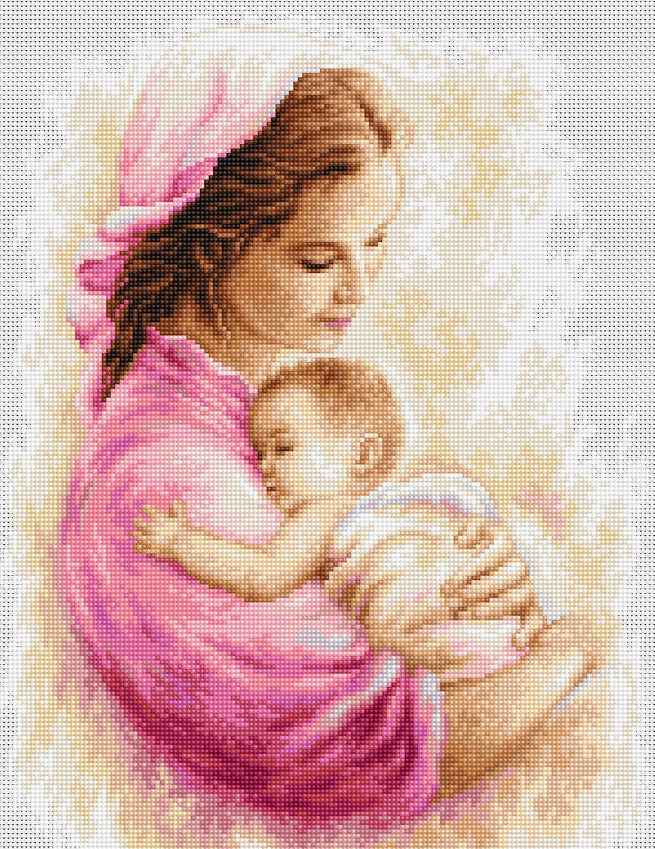 Luca-S Mother with Child Cross Stitch Kit