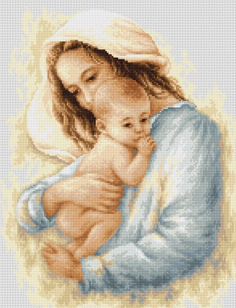 Luca-S Mother and Baby Cross Stitch Kit
