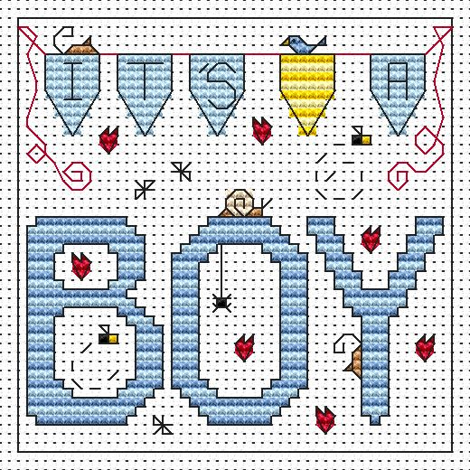 It's A Boy Card -  Cross Stitch Kit