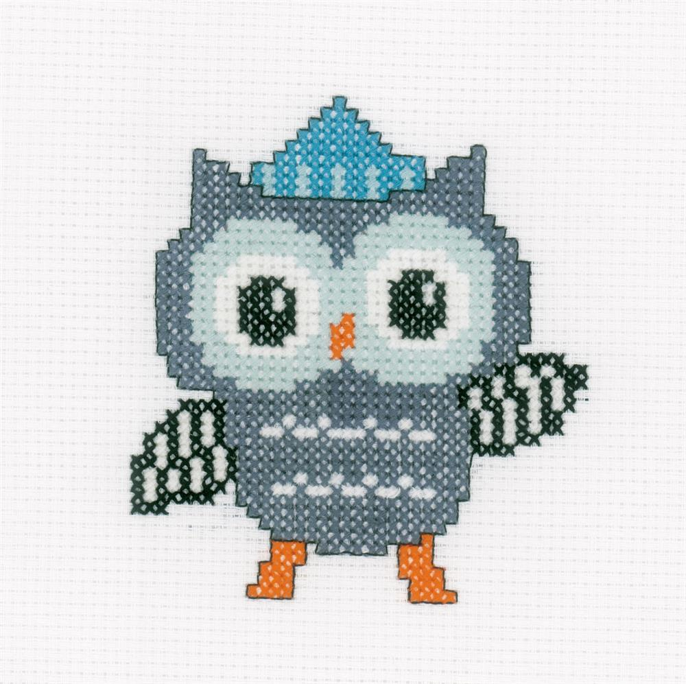 Vervaco Owl in Hat Cross Stitch Kit