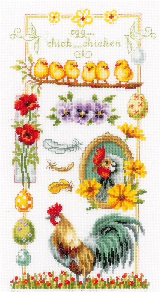 Vervaco About Chickens Cross Stitch Kit