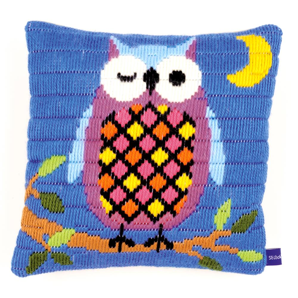 Vervaco Owl at Night Cushion Long Stitch Kit