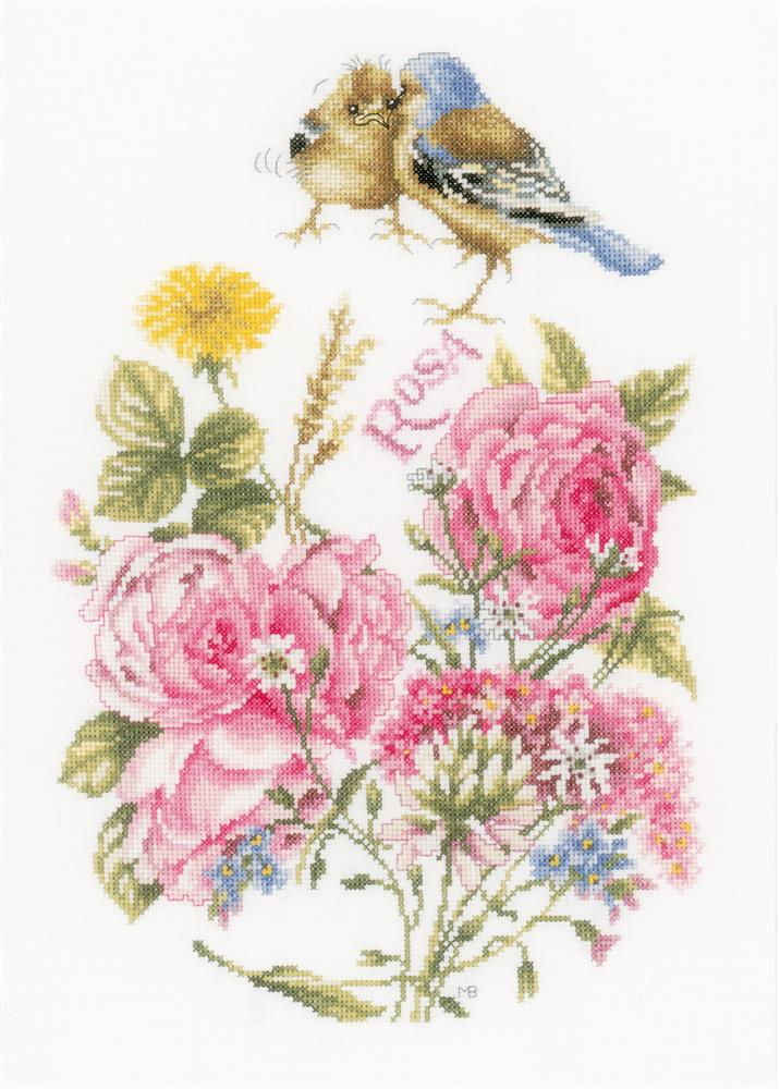 Finches - Evenweave -  Cross Stitch Kit