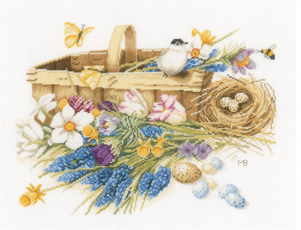 Spring Flowers - Evenweave -  Cross Stitch Kit