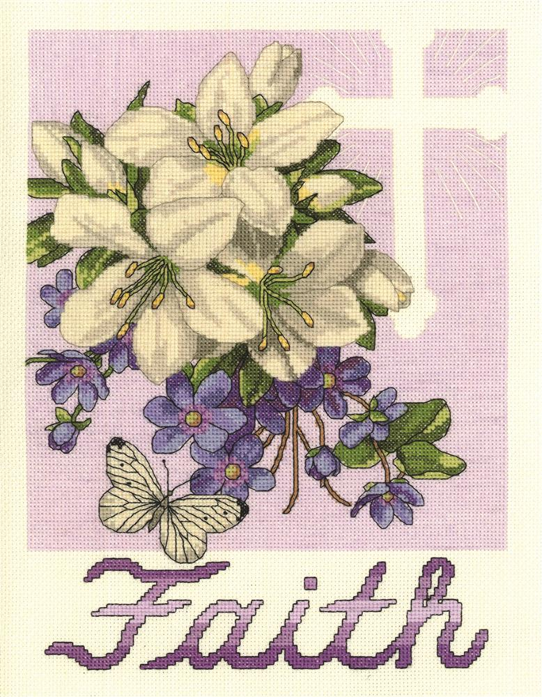 Janlynn Faith Cross Stitch Kit