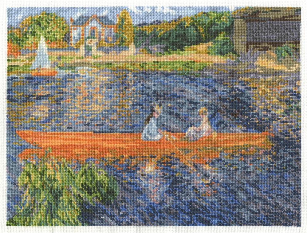 DMC Renoir - The Skiff Cross Stitch Kit