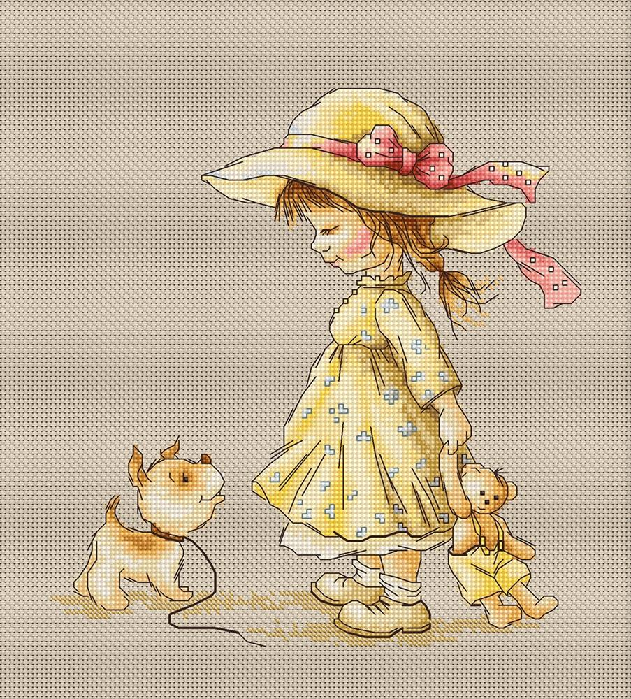 Luca-S Come with Me Cross Stitch Kit