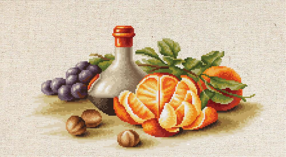 Still LIfe with Oranges -  Cross Stitch Kit
