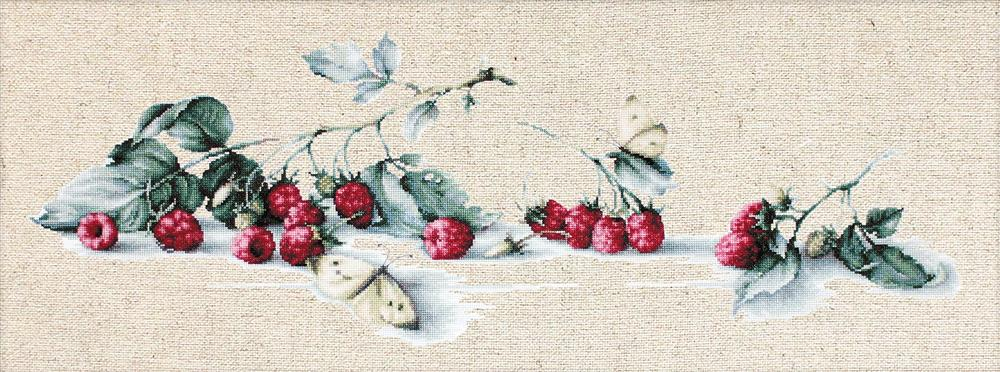 Luca-S Raspberries with Butterfly Cross Stitch Kit