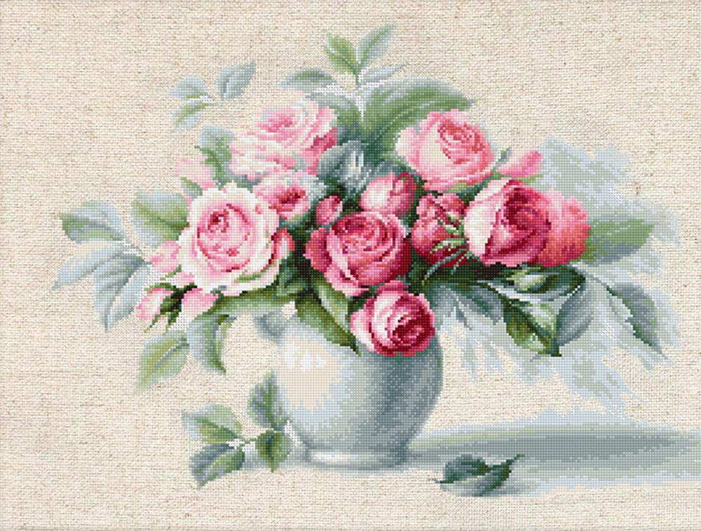Luca-S Etude with Roses Cross Stitch Kit