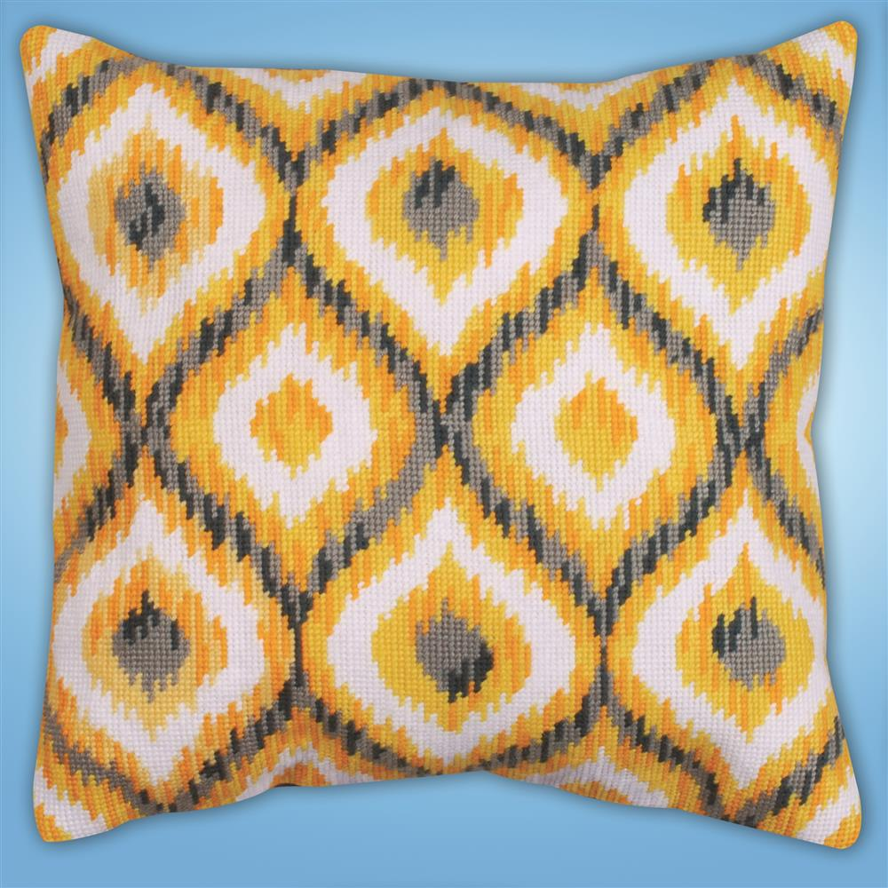 Design Works Crafts Yellow Ikat Tapestry Kit