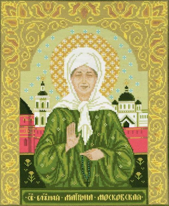 St Blessed Matrona of Moscow -  Cross Stitch Kit