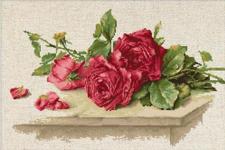 Luca-S Red Roses Cross Stitch Kit