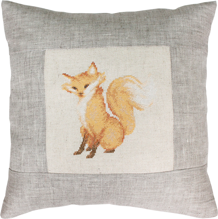 Fox Pillow -  Cross Stitch Kit